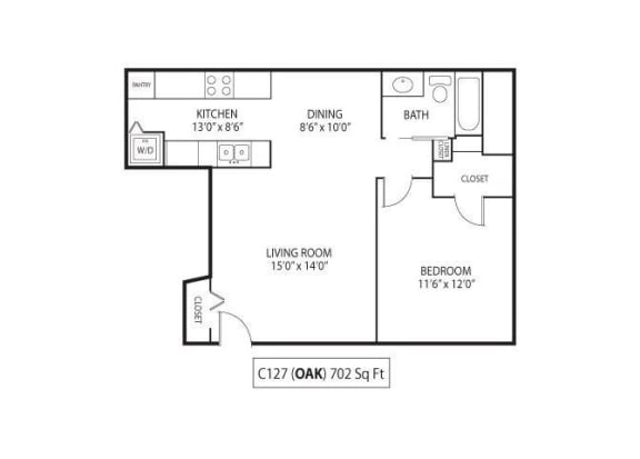 Floor Plan  Oak, opens a dialog