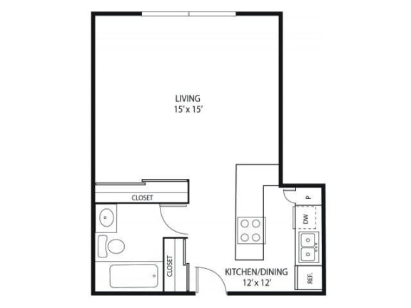 Floor Plan  Minnehaha Manor Apartments in Oakdale, MN Studio