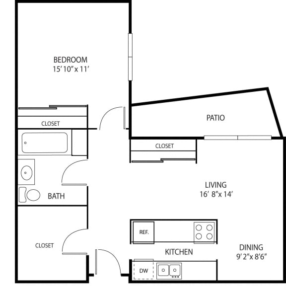 Oakwood Apartments in Plymouth, MN 1 Bedroom 1 Bath