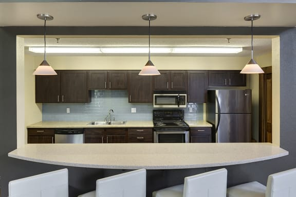 Regency Woods Apartments in Minnetonka, MN Community Kitchen