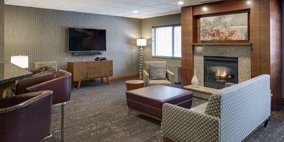 Vernon Terrace of Edina in Edina, MN 55+ Community Fireside Lounge