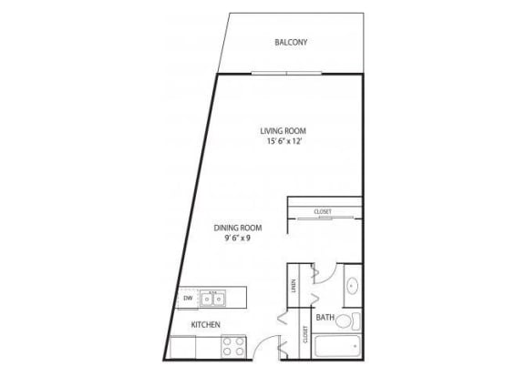 Floor Plan  Willow Pond Apartments in Burnsville, MN Studio