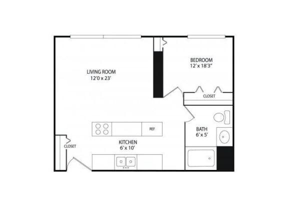 Floor Plan  Winslow Commons Apartments in St. Paul, MN 1 Bedroom 1 Bath
