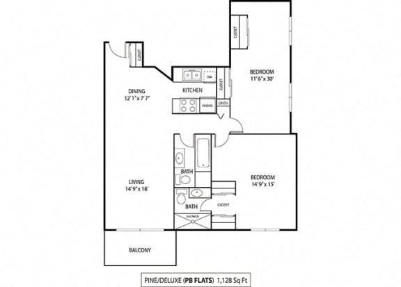 Floor Plan  Deluxe Pine
