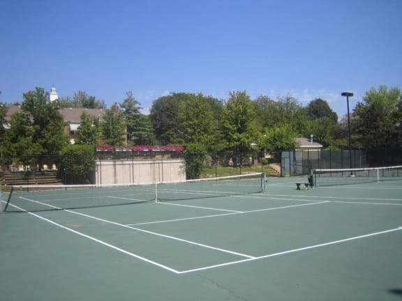 Tennis Courts Close-Up at Indian Creek Apartments, Cincinnati