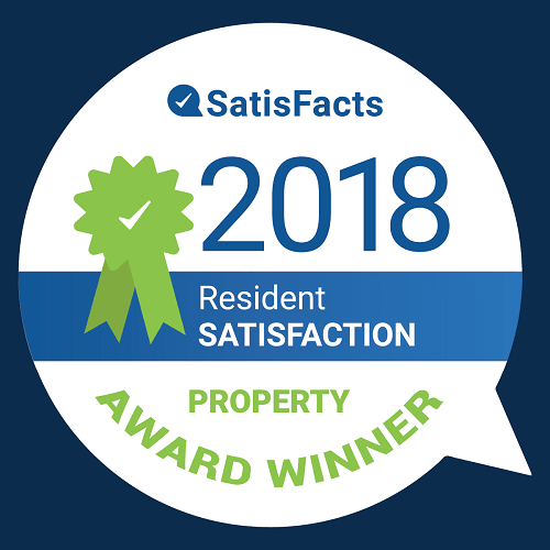 SatisFacts 2018 Award at Indian Creek Apartments, Cincinnati, OH