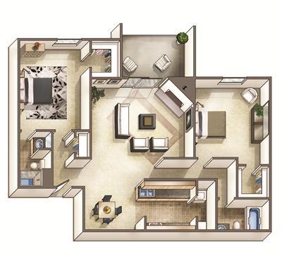 The Hartford Floor Plan at Park Ridge Estates, North Carolina