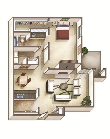 The Waterford Floor Plan at Park Ridge Estates, North Carolina, 27713