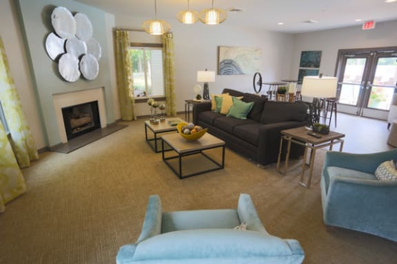 Clubroom With Fireplace at Sterling Beaufont Apartments, Richmond