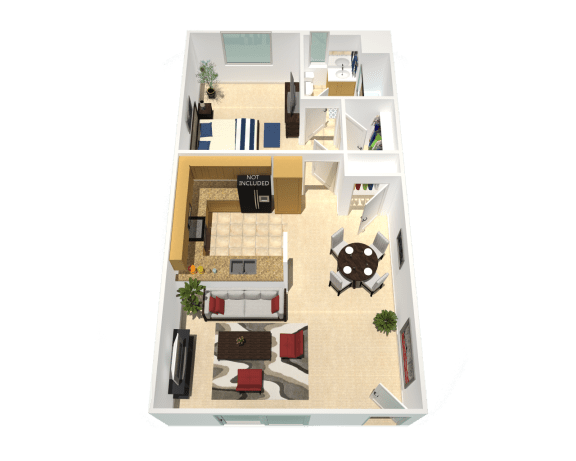 Floor Plan  refurbished apartment