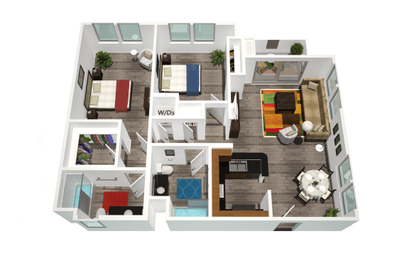 Floor Plan  Legacy Apartment Homes  - Northridge - Luxury Rental Apartments near CSUN