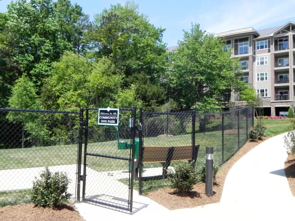 Dog Park at LangTree Lake Norman Apartments