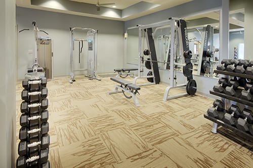 Large Fitness Center at LangTree Lake Norman Apartments