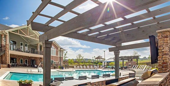 Swimming Pool at LangTree Lake Norman Apartments