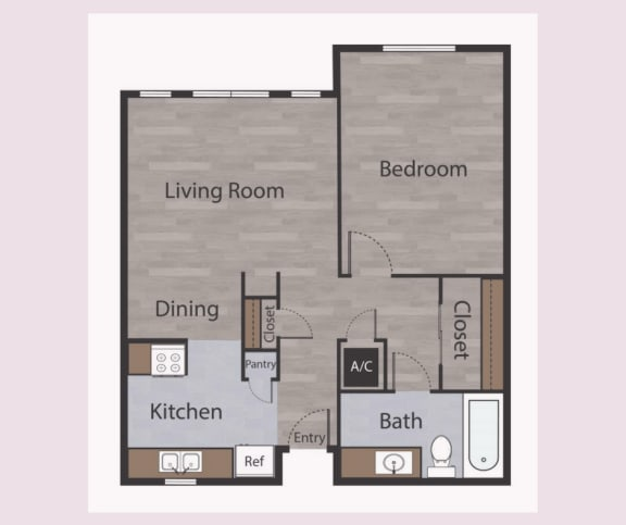 A1 1 Bed 1 Bath Apartments in Mesh II at Mesh Properties, Austin, 78741