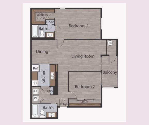 B2 2 Bed 2 Bath Apartments in Mesh II at Mesh Properties, Texas