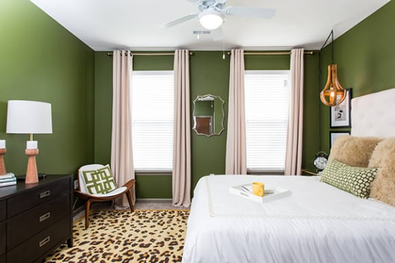 Contemporary Color Palette in Bedroom at Bella Vista Apartments, Fishers, Indiana
