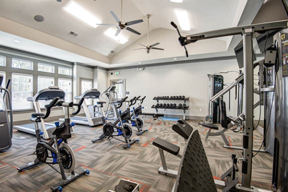 Cardio Machines and Workout Equipment at The Retreat Apartments, near Salem, VA 24019