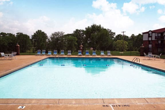 Pool With Large Sundeck and Wi-Fi at Brookside Apartments in Springfield, MI
