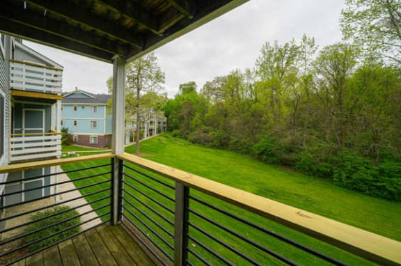 Balcony Off Living Room at Hurwich Farms Apartments in South Bend, IN