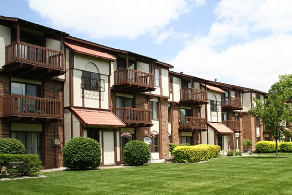 Patio or Private Balcony Available at Madeira Apartments, Kalamazoo, MI