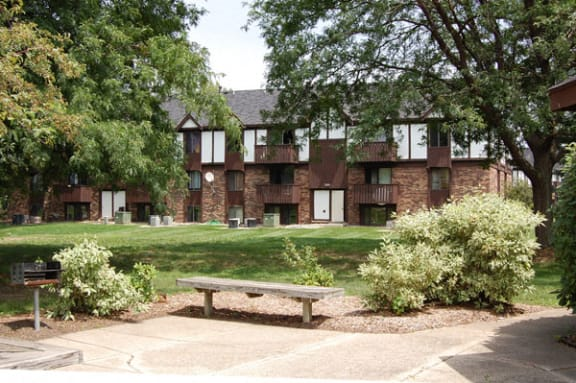 Benches and Grills at Normandy Village Apartments in Michigan City, IN