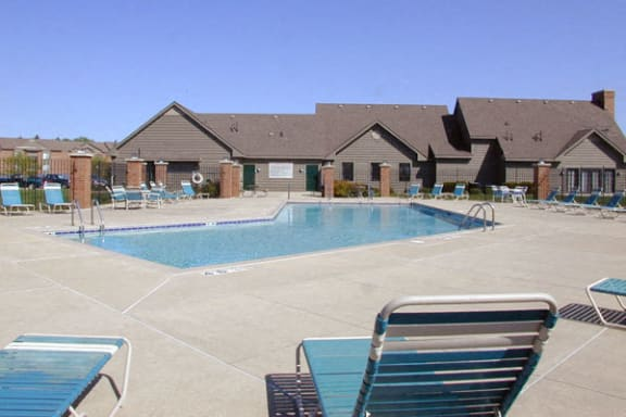 Pool With Large Sundeck and Wi-Fi at Oak Shores Apartments in Oak Creek, WI