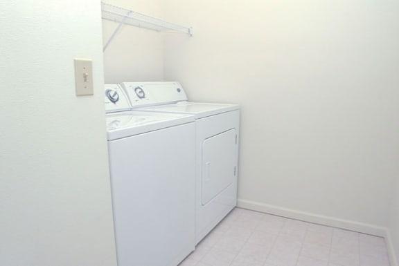 Laundry Room in Two Bedrooms at West Hampton Park Apartment Homes, Elkhorn, Nebraska 68022