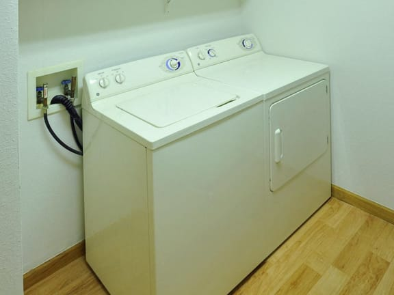In-Unit Washer and Dryer Set at Tanglewood Apartments in Oak Creek, WI