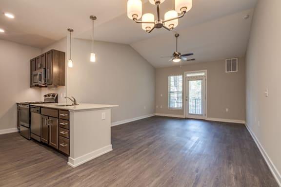 Luxury vinyl plank floors at Emerald Creek Apartments, Greenville, SC