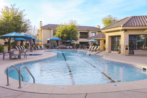 Olympic Length Swimming Pool at Tucson Downtown Apartments for Rent