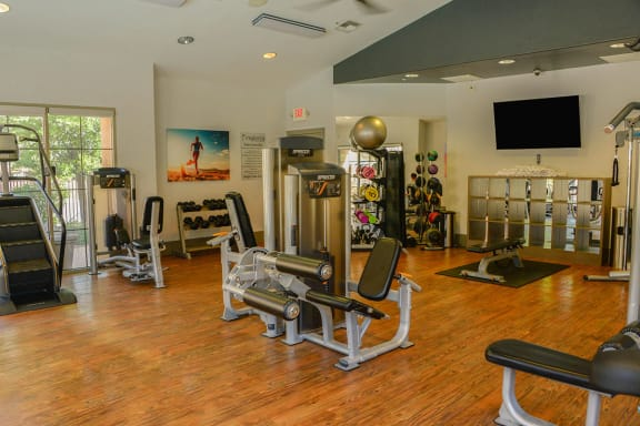 Free Weights and Gym at Apartments Near Tucson Medical Center