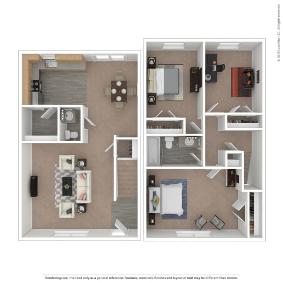 Riviera Floor Plan at The Courtyards of Chanticleer, Virginia Beach, VA