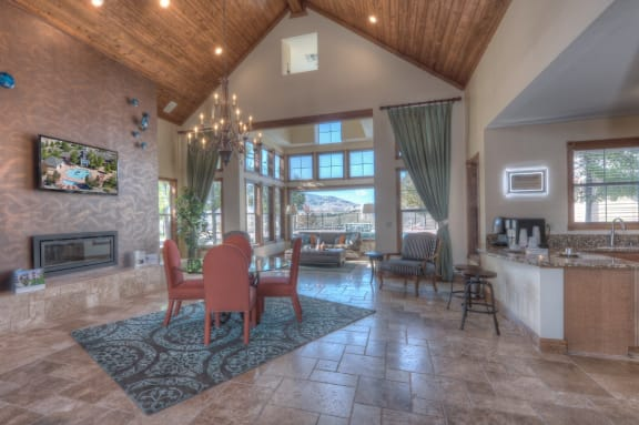 Clubhouse With Full Kitchen And Fireplace at Manzanita Gate Apartment Homes, 2475 Robb Drive, Reno, NV