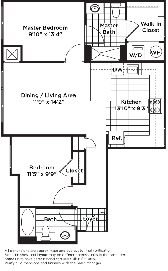 Floor Plan  B01m  (Income Restricted)