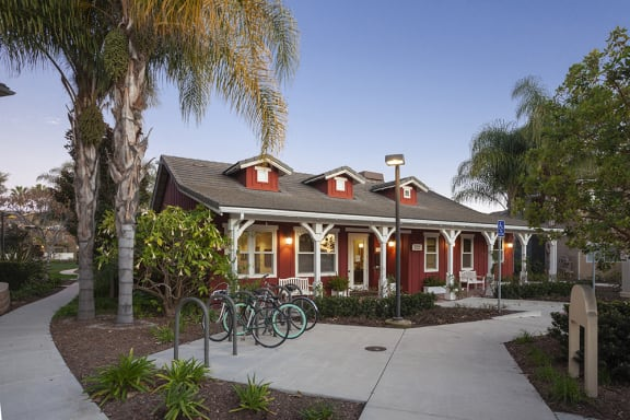Bike racks, at Sumida Gardens Apartments, Santa Barbara, CA 93111