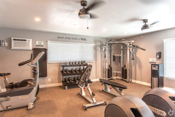 fitness-center at Charter Oaks Apartments, Thousand Oaks, California