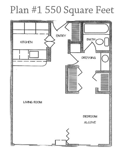Lare_Single_1_Bath-2 Floor Plan at Charter Oaks Apartments, Thousand Oaks, 91360