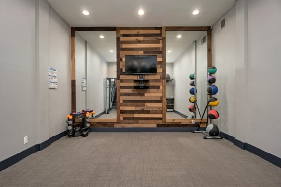 Fitness Center including TV And Music System at Wilbur Oaks Apartments, California