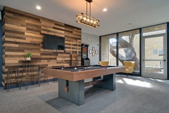 Billiards Table In Game Room at Wilbur Oaks Apartments, Thousand Oaks, California