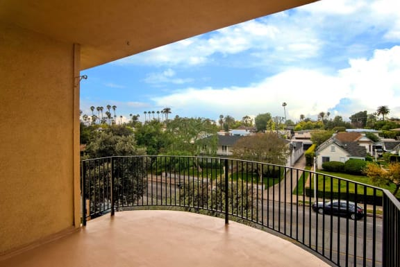 Balconies With City Views at Los Robles Apartments, California