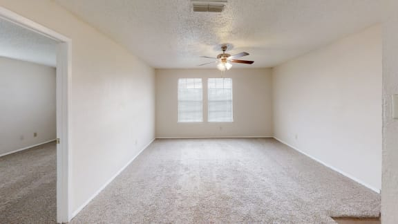 View of bedroom in Maple floor plan at Arbors of Cleburne Apartments