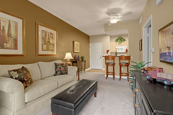 Expansive Living Room at 55+ FountainGlen Grand Isle, Murrieta, CA, 92562