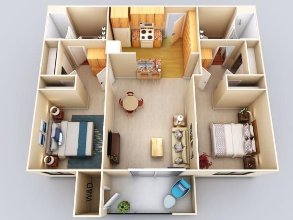 Fiji 2Bed2Bath Floor Plan at 55+ FountainGlen Grand Isle, California