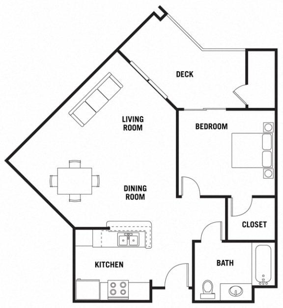 Floor Plan  Barcelona 1Bed_1Bath at 55+ FountainGlen Rancho Santa Margarita, California, 92688