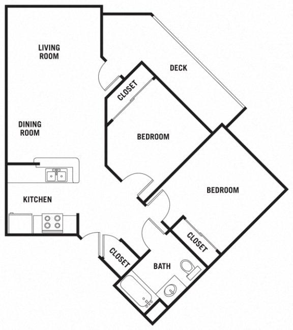 Floor Plan  Tuscany 1Bed_1Bath at 55+ FountainGlen Rancho Santa Margarita, Rancho Santa Margarita, 92688