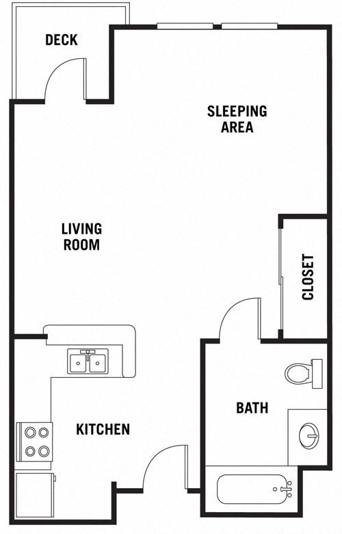 Floor Plan  Sedona Studio at 55+ FountainGlen Rancho Santa Margarita, Rancho Santa Margarita