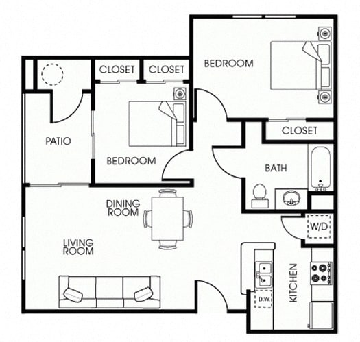 Villa 2Bed_1Bath at 55+ FountainGlen Seacliff, Huntington Beach, CA, 92648
