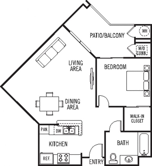 Floor Plan  Santa Cruz 1Bed_1Bath at 55+ FountainGlen Stevenson Ranch, Stevenson Ranch, CA