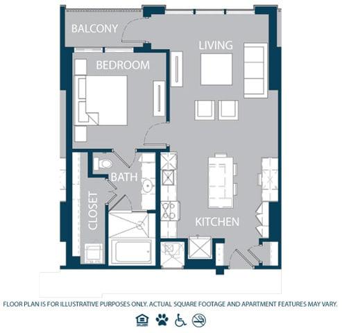 Floor Plan  Floorplan at The Jordan, Dallas, TX 75201, opens a dialog